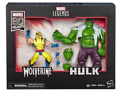Marvel Legends Hulk vs Wolverine Two-Pack Action Figures 6-Inch 80th IN STOCK