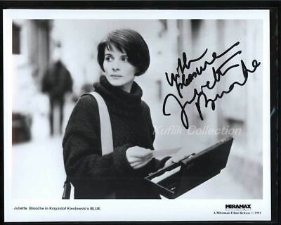 Juliette Binoche - Signed Autograph Movie Still - Blue - The English Patient