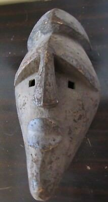 Authentic-Old Lwalwa Lwalu Mfondo Hand Carved Wooden Circumcision Mask-Congo DRC