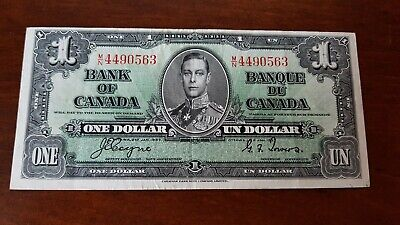 1937 Bank of Canada 1.00 miss cut MN4490563 Coyne/Towers VFine