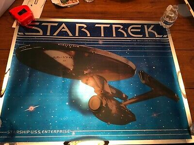 STAR TREK THE MOTION PICTURE U.S.S. ENTERPRISE MYLAR POSTER (1979) 28.5x22 EX