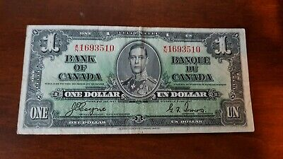 1937 Bank of Canada 1.00 WN 1693510 Coyne/Towers V/Fine