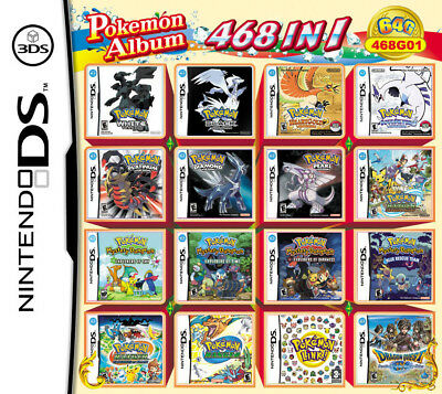 468 IN 1 Games Pokemon Cartridge Card For NDS NDS NDSL NDSi 2DS 3DS US