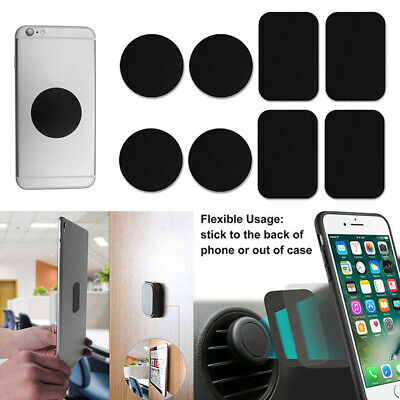 Metal Universal Car Magnetic Cell Phone Holder Plate Disc Magnet Mount Sticker