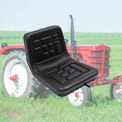 Universal Tractor Seat Black Skid Steer Dumper Mower suspension seat w/ Rails UK