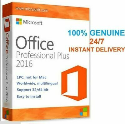 Microsoft Office 2016 Professional Plus Full Version Lifetime Licence Key 1PC