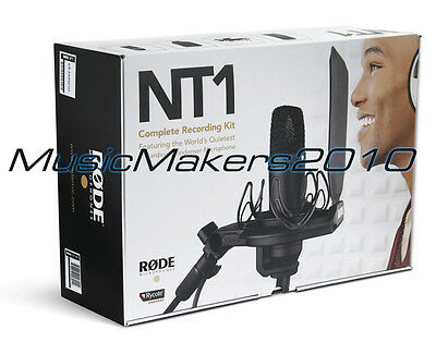 Rode NT1 Quiet Condenser Microphone Kit, NT-1 Mic and SMR Shock Mount NEW IN BOX
