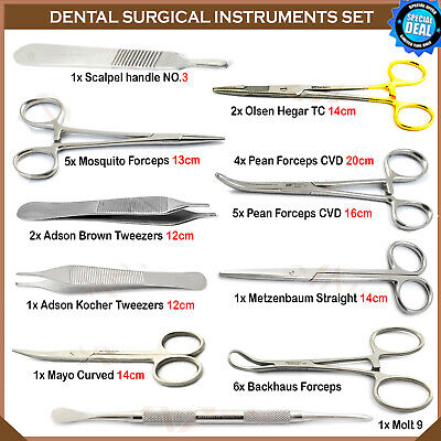 Dental Implantology Oral Surgery Kit Surgical Placement Instruments EURO MEDICS
