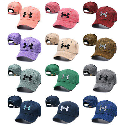 hot sale online 90695 59e95 Under Armour Stretch Fit Golf Baseball Cap Embroidered Unisex Women Men Sun  Hat