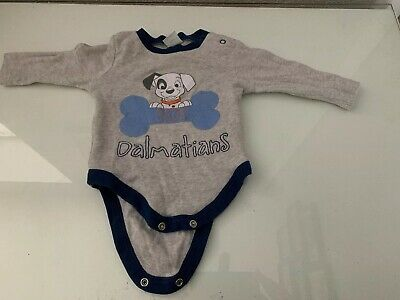Baby Boy Up To 3 Months Baby Vest/grow Disney 101 Dalmation Used Unwanted Cute