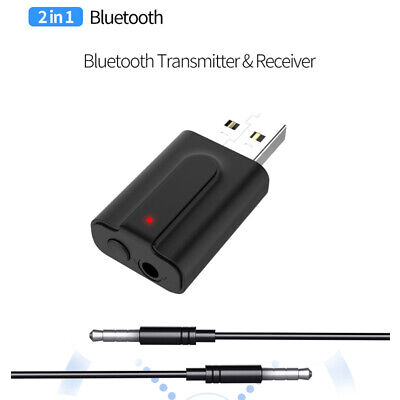 2 In 1 Wireless Bluetooth 5.0 Transmitter Receiver 3.5MM AUX Audio Adapter fr TV