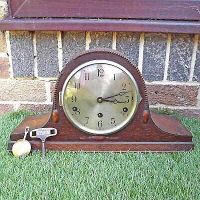 Art Deco Westminster Chime Clock - FHS Hermle Napoleon Hat - Beaded 8 Day Chimes