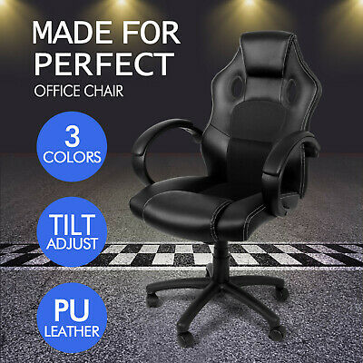 Chair Office Luxury Executive Gaming Racing Rock Lift Swivel Computer Desk Chair