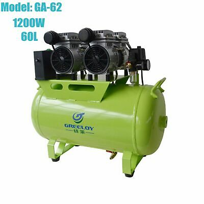 60L Medical Movable Oilless Noiseless Air Compressor Motor for 3pc Dental Chairs