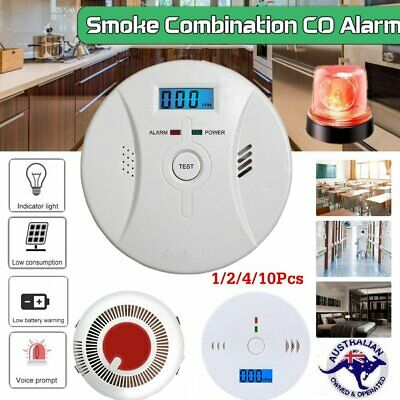 CO Carbon Monoxide Smoke Detector Alarm Gas Warning Alarming Sensor LCD Display