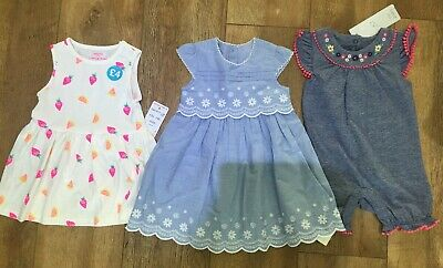 Baby Girls Clothes Bundle BNWT. 6-9months. 2 Summer Dresses And 1 Playsuit