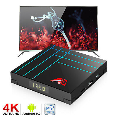 H96 MAX RK3318 4K 2.4G/5G WiFi Bluetooth smart Media Player Android 9.0 TV Box