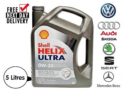 Shell Helix Ultra ECT C2/C3 0w-30 Fully Synthetic Engine Oil - 5litres 5L