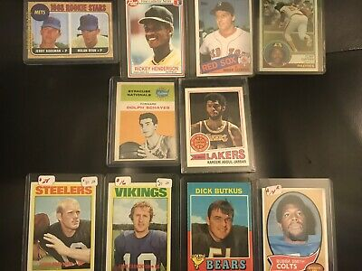 Huge Baseball Card & Sports Card Collection Lot! Vintage, Autos Rookies HOF