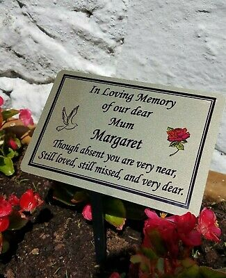 Personalised Memorial Grave/Tree Marker Plaque Grave Ornament
