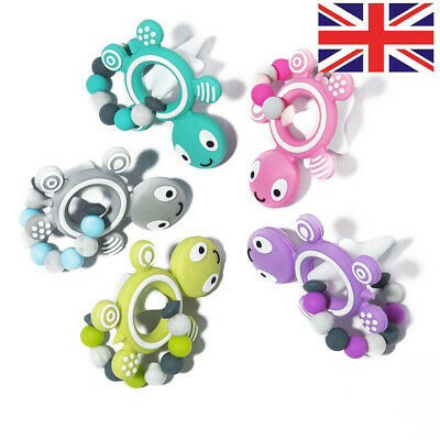 1Pcs Silicone Baby Teether Molar Toy Star Turtle Shape Teether Pendant Baby Care