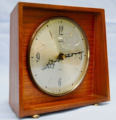 V nice original Smiths wooden modernist cube  clock , great condition GWO