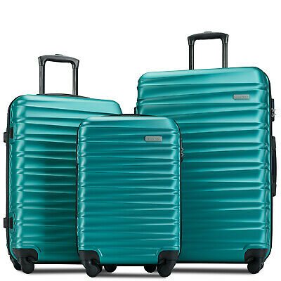 884cfda50fe6 3 PIECE LUGGAGE Sets Hardside Spinner Suitcase Light weight 20