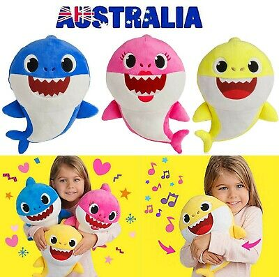 2019 Plush Singing Baby Shark Villus Toys Music Dolls English Song LED Lights AU