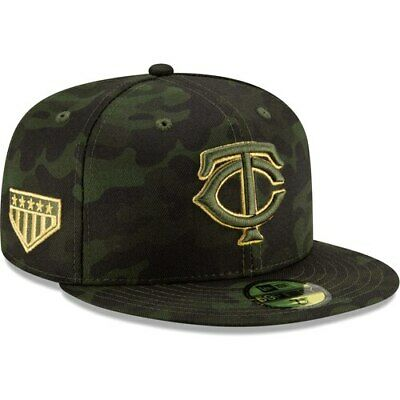 sports shoes 95023 ff8de Minnesota Twins New Era 2019 MLB Armed Forces Day On-Field 59FIFTY Fitted  Hat -