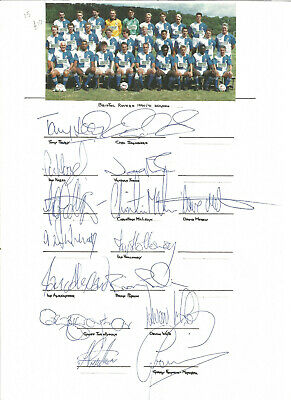 Football Autographs Bristol Rovers 1990/91 Signed Team Sheets A4 Size - F1267