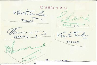 Football Autographs Charlton Athletic FC Player Signed Paper Pieces F1275
