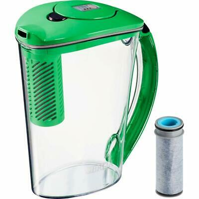 Brita 10 Cup Stream Filter As You Pour Water Pitcher 1 Filter BPA Free Green