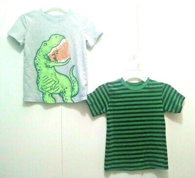 Boys Lot 2 5T Shirt Tops T-Shirts Toddler Boy Short Sleeve Cat & Jack Garanimals