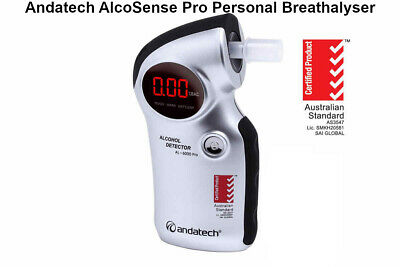 Andatech AlcoSense Pro Breathalyser Accurate Compact Easy Use  Alcohol Tester