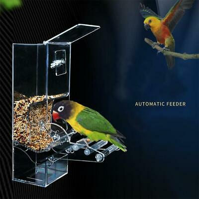 Automatic Pet Cage Aviary Bird Parrot Budgie Finches Container Food Feeder Clip
