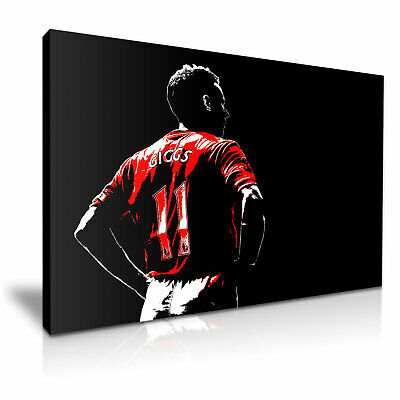 RYAN GIGGS MANCHESTER UNITED FC GICLEE CANVAS ART