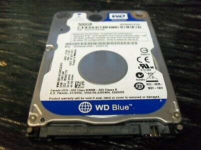 Western Digital Blue WD 500GB Internal 2.5 WD5000BPVT Laptop Slim HDD Hard Drive