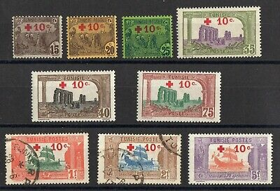 TUNISIE: SERIE COMPLETE DE 9 TIMBRES NEUF*/o N°50/58 Cote: 300,00 €