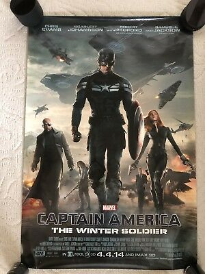 CAPTAIN AMERICA THE WINTER SOLDIER MOVIE POSTER DS ORIGINAL INTL FINAL 27x40