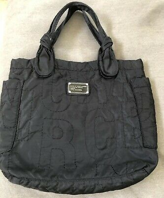 3d615605d2 MARC by MARC JACOBS Black Nylon TATE TOTE Bag Quilted Shopper Purse medium