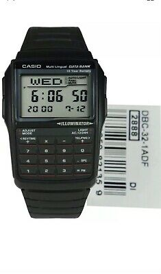 CASIO NEW  Digital DBC-32-1ADF Multilingual Databank Calculator Alarm Watch