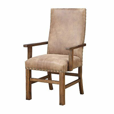 Emerald Home Chambers Creek Brown Upholstered Chair with Nailhead Trim, Set of 2