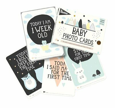 Milestone Baby Cards, Over The Moon Milestone Cards