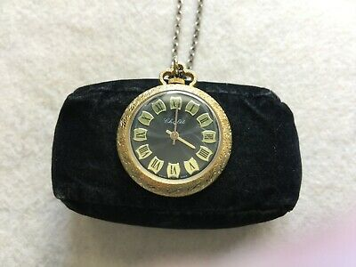 Swiss Made Chalet Vintage Wind Up Necklace Pendant Watch