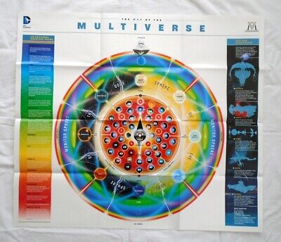 DC Map of the Multiverse Folded Promo Poster