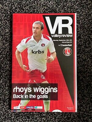 Charlton Athletic vs Chesterfield - 2011/12 League One Match Day Programme