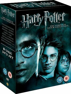 Harry Potter Complete 8 Film Collection Dvd Box Set Brand New & Sealed/Free P&P