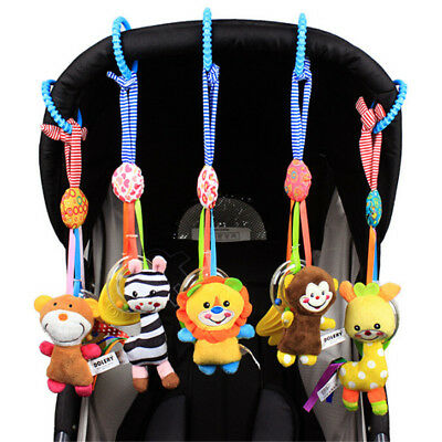 Baby Infant Rattles Plush Animal Stroller Hanging Bell Play Toy Doll Crib Bed DM