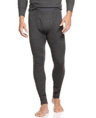 Alfani Men's Thermal Waffle Knit Pants, Warm Long Underwear, Charcoal XXL #2466