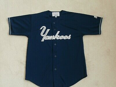 2efdfbe06 New York Yankees Sewn Starter Mlb Blue Baseball Jersey Regular Season Men L